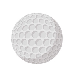 Golf ball cartoon icon vector