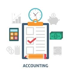 Accounting concept icons flat vector