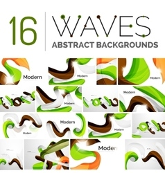 Color smooth waves vector