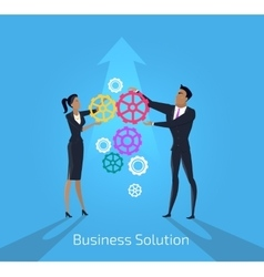Business solution man and woman vector