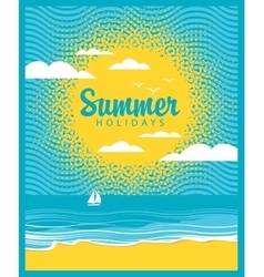 Beach summer time vector