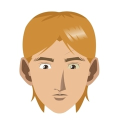 Face of young blonde man icon vector
