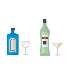 Alcohol martini drinks beverages cocktail drink vector