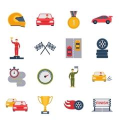 Auto sport icon flat vector