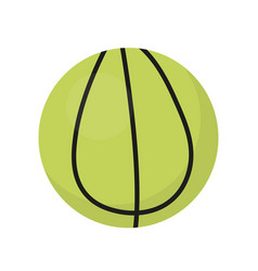 Ball for tennis icon flat cartoon style vector