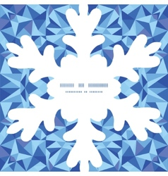Blue triangle texture christmas snowflake vector