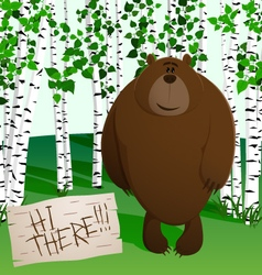 Brown bear in the forest vector