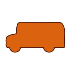 Bus silhouette isolated icon vector