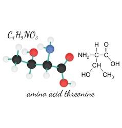 C4H9NO3 threonine amino acid molecule vector image vector image