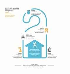 Cleaning service infographic vector
