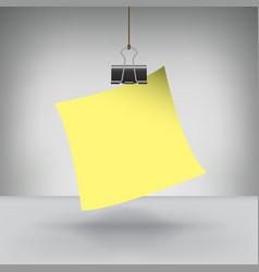 Clip Note vector image vector image