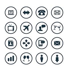 Communication icons universal set vector