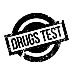 drugs test rubber stamp vector image