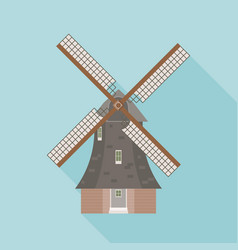 dutch windmill vector image vector image