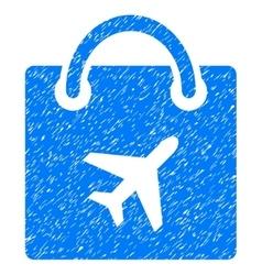 Duty free shopping grainy texture icon vector