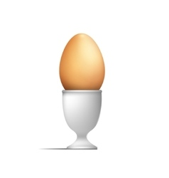 Egg on a stand vector