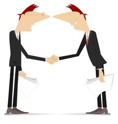 Firm handshake vector