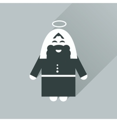 Flat icon with long shadow father jesus christ vector