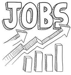 Jobs vector image