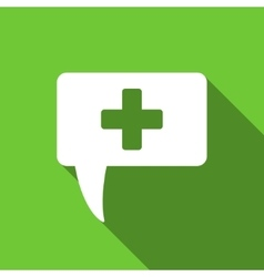 Medical answer flat long shadow square icon vector