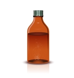 Medical brown Bottle vector image