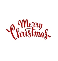 Merry Christmas Hand drawn lettering on white vector image vector image