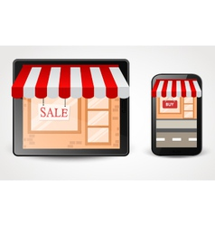online store shopping concept on smartphone vector image