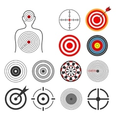 People animals dart silhouette shooting target vector image vector image