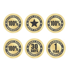 Satisfaction guarantee seals vector