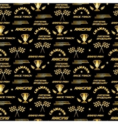 Seamless background with symbols of racing vector