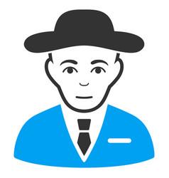 Secret service agent icon vector