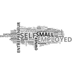 Self-employed word cloud concept vector
