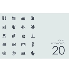 Set of luxembourg icons vector