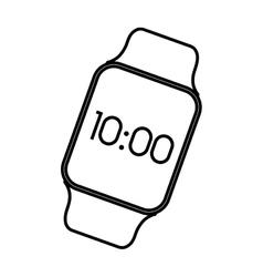 Smart watch wearable technology time screen vector