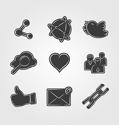 Social network icon vector