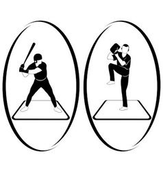 Softball vector