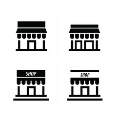 Store and shop icons vector