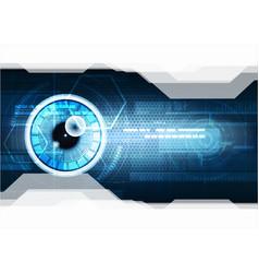 technological eye scanning hud security vector image vector image