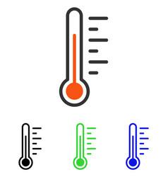 Temperature level flat icon vector
