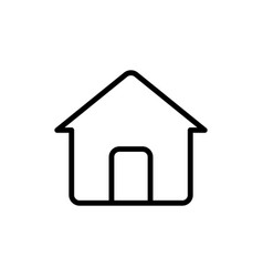 thin line home house icon vector image