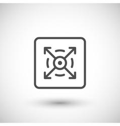 Three dimensional line icon vector