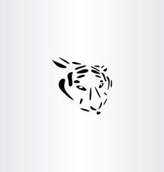 Tiger icon design vector