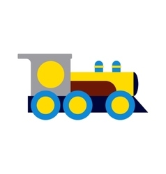 Toy train vector image