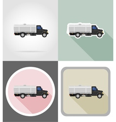 truck flat icons 04 vector image vector image