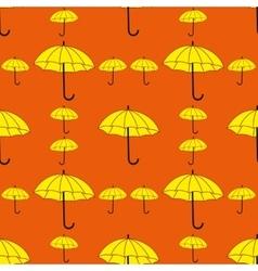Umbrellas seamless pattern vector image vector image