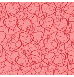 Valentines seamless background vector image vector image