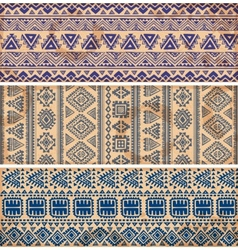 Vintage ethnic set of banners vector image