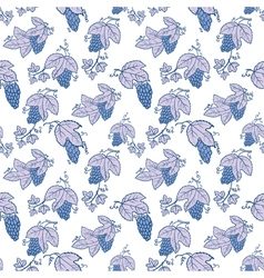 Doodle seamless pattern with grape vector