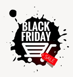 Black friday sale design in grunge style vector