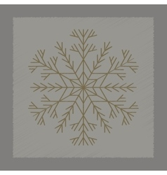 Flat shading style icon snowflake vector